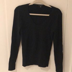 Black v-neck Ann Taylor sweater